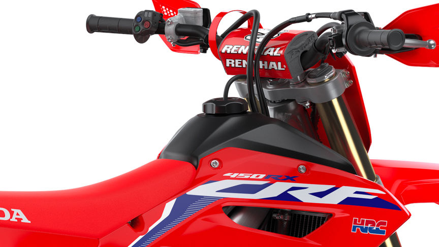 CRF450RX zoom on fuel tank