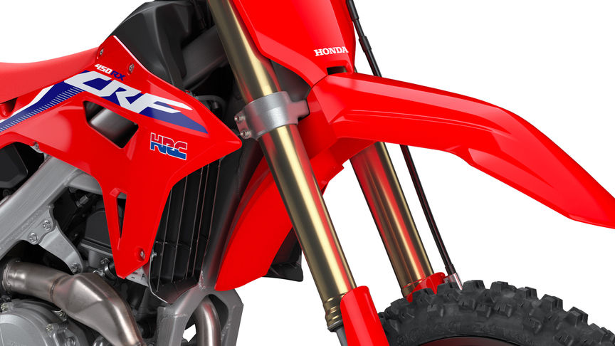 CRF450RX, close up of the showa suspension.