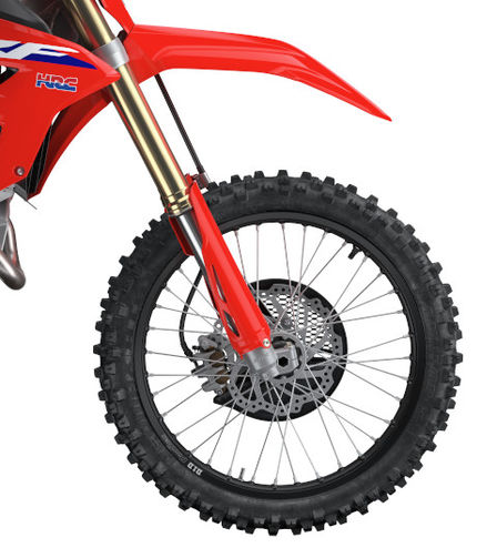CRF450RX, close up of the front wheel