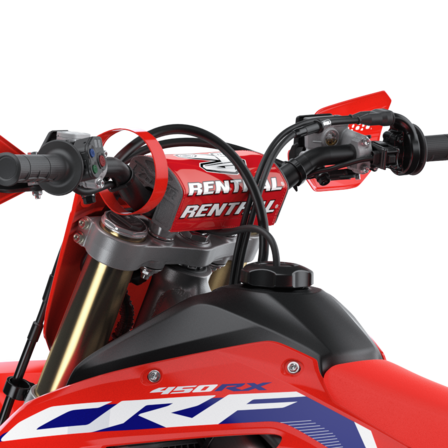 CRF450RX, close up of the handlebars