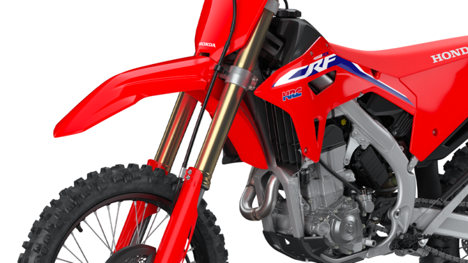 CRF450RX, close up of the chassis.